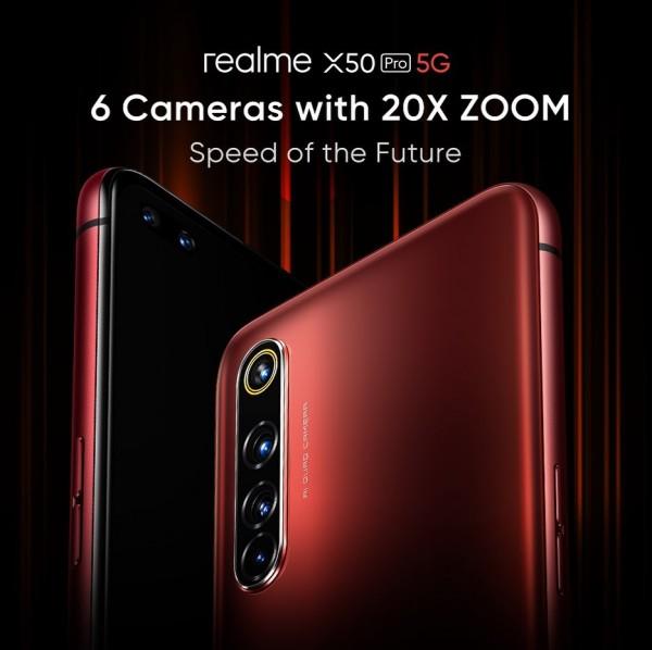Realme ยืนยันกล้องซูม 20 เท่า ในเว็บไซต์ตัวอย่างของ X50 Pro