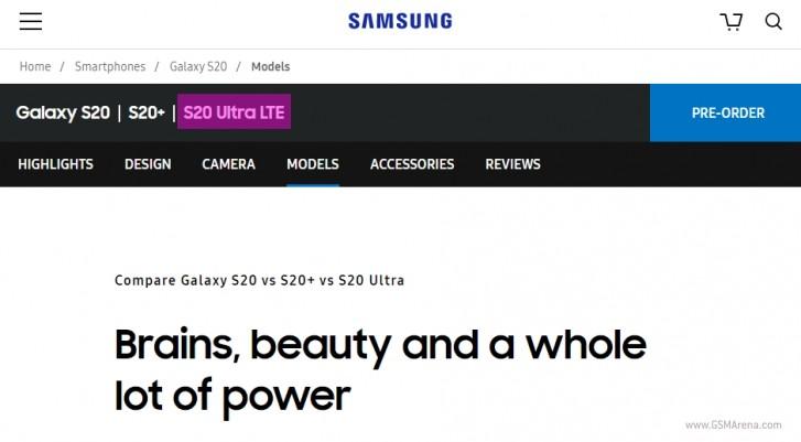 เผยโฉม Samsung Galaxy S20 Ultra รุ่น LTE