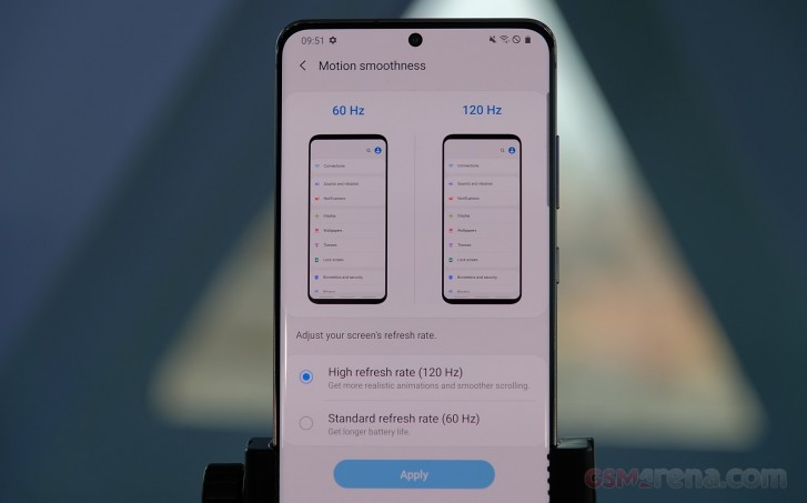 Samsung เปิดใช้งาน 120Hz
