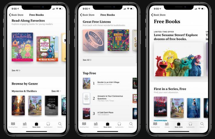 Apple เสนอหนังสือและหนังสือเสียงฟรี