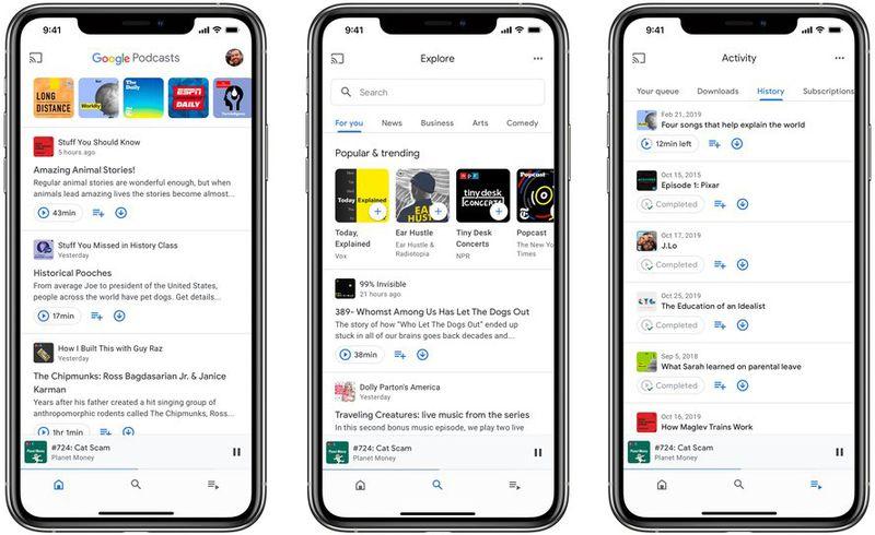 แอป Google Podcasts ขยายสู่ iOS